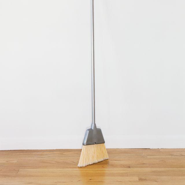 broom in empty room