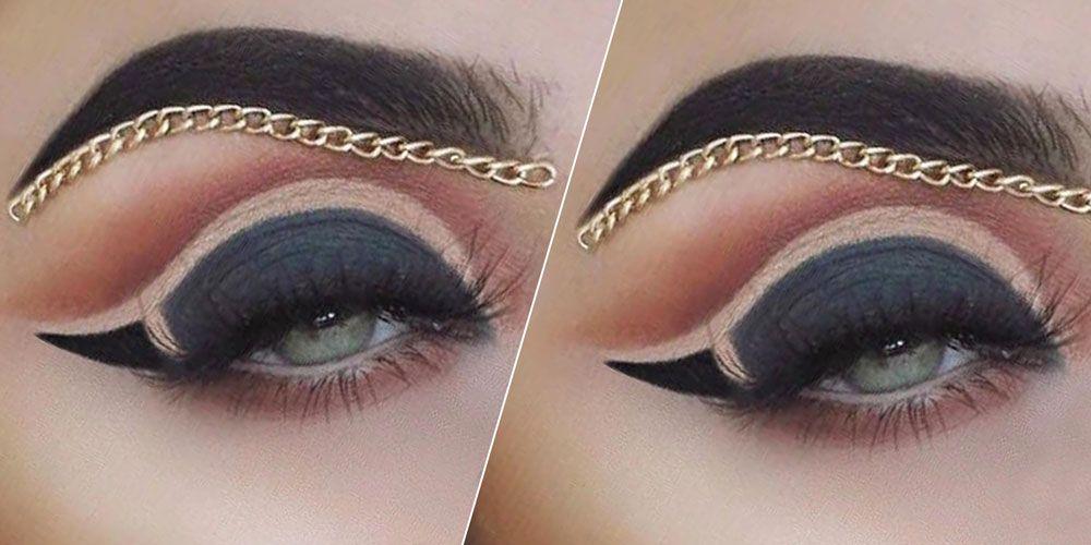 Makeup Artist Creates Gorgeous Brow Chain Look Chain Eyebrow Trend