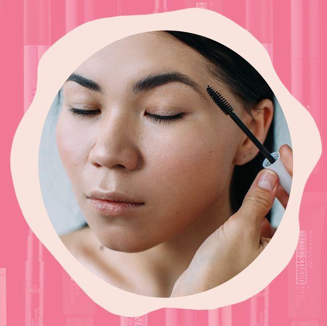 applying brow gel
