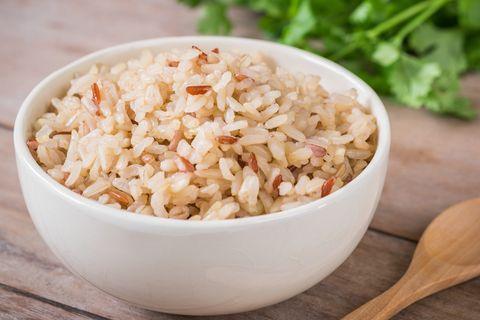 Brown rice healthy carbs