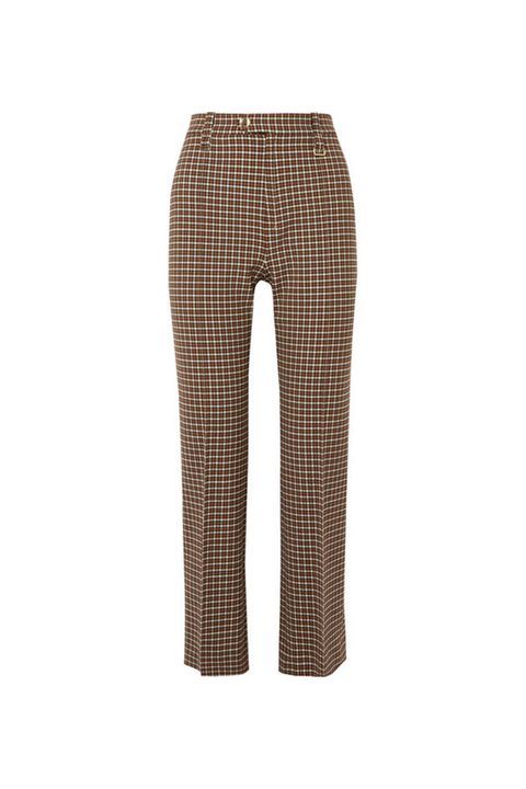Clothing, Trousers, Brown, Pattern, Jeans, Plaid, Design, Active pants, Sportswear, Beige,