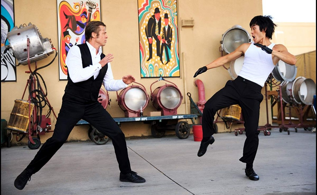 Bruce Lee Brad Pitt Once Upon a Time in Hollywood Fight Scene