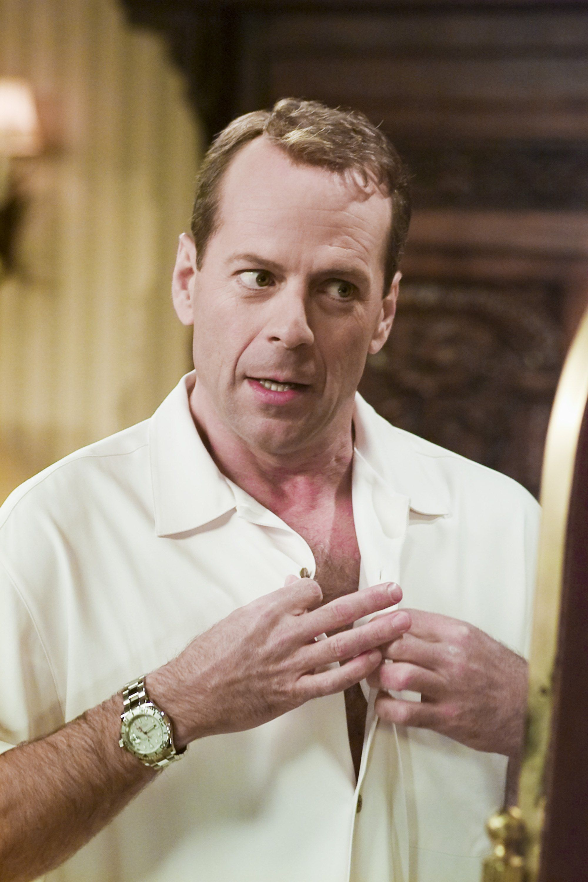 Bruce Willis guest starred on the show after losing a bet.