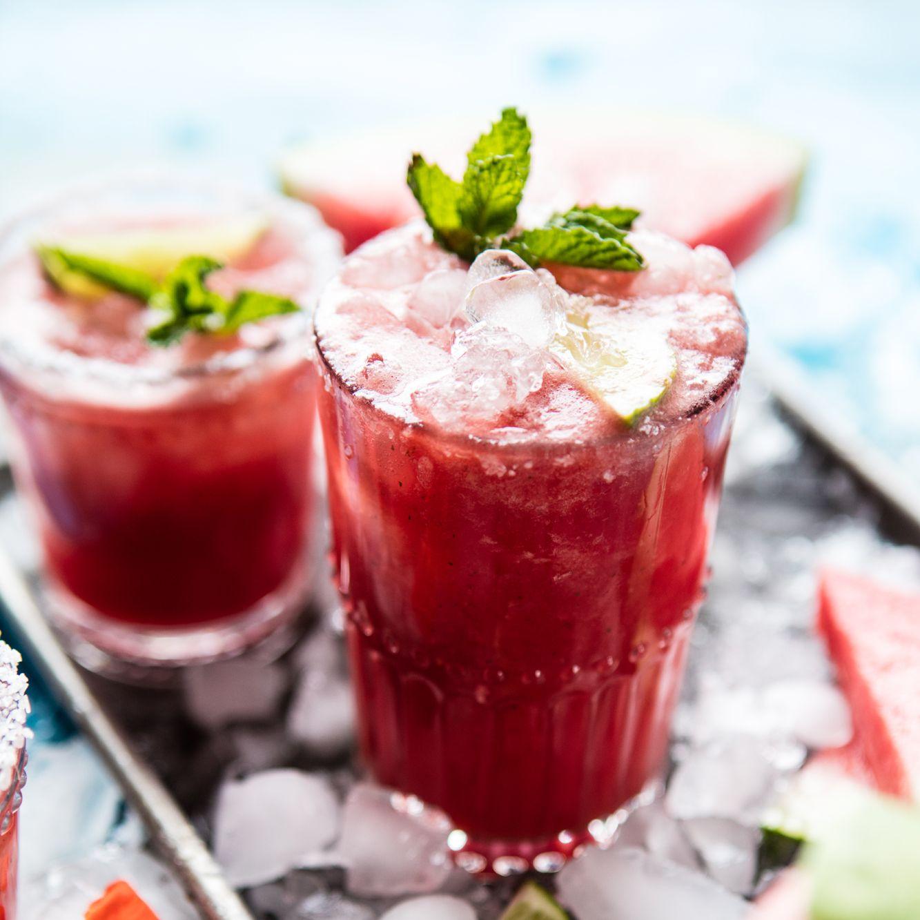 brunch cocktails watermelon margaritas