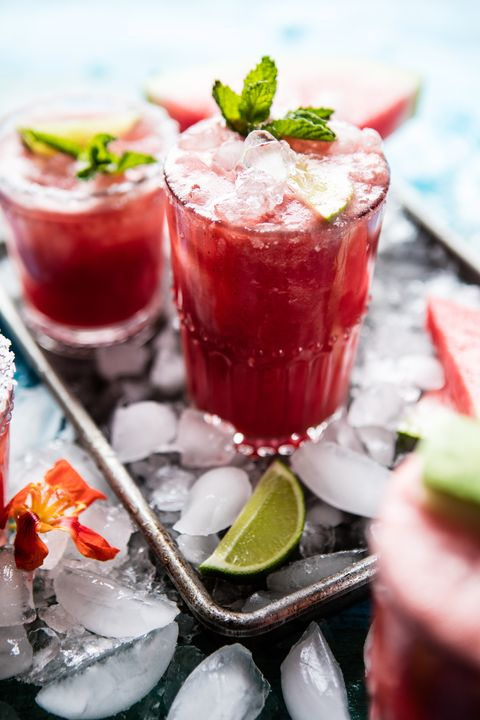 brunch cocktails watermelon margaritas