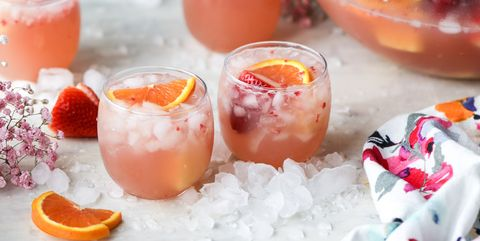 brunch cocktail strawberry citrus easter punch