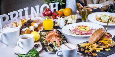 Meal, Brunch, Dish, Food, Cuisine, Breakfast, Ingredient, À la carte food, Full breakfast, Lunch,
