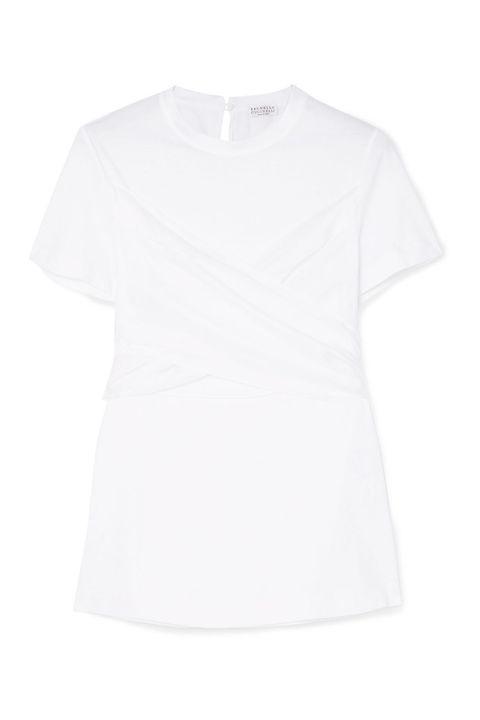 Brunello Cucinelli camiseta blanca