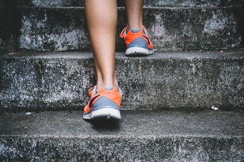 Human leg, White, Footwear, Orange, Red, Leg, Shoe, Water, Ankle, Foot,