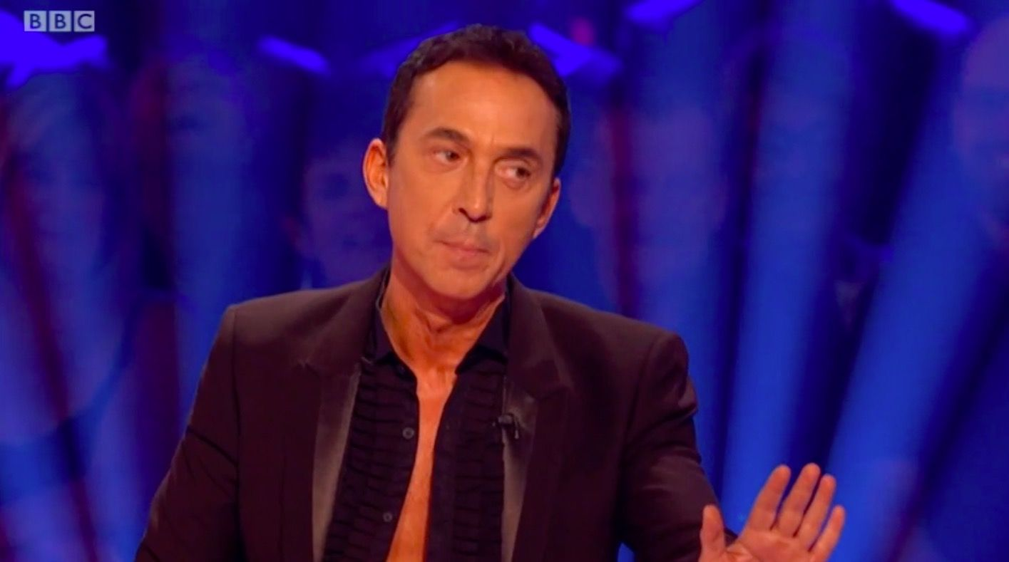 Strictly Come Dancing's Bruno Tonioli swats a bug from Shirley Ballas' hair live on air