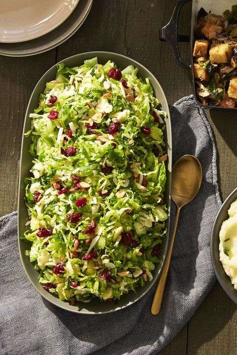 Easy Keto Side Dishes - Brussels Sprouts Salad with Bacon