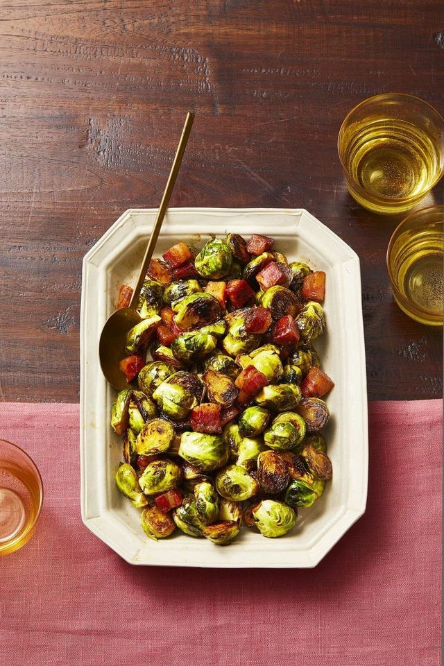 Brussels Sprouts with Heaps of Bacon
