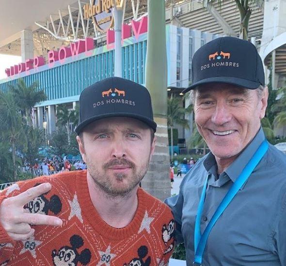 Breaking Bad's Bryan Cranston and Aaron Paul reunite in cute picture