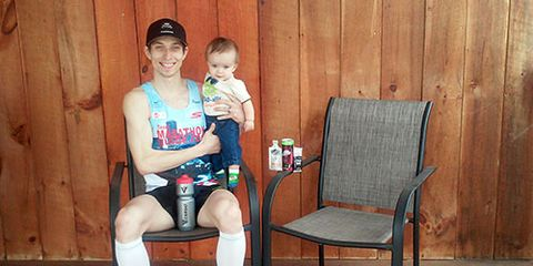 Bryan Morseman with son