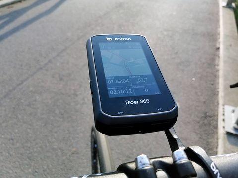 bryton, rider, 860, gps, gps computer, fietsnavigatie