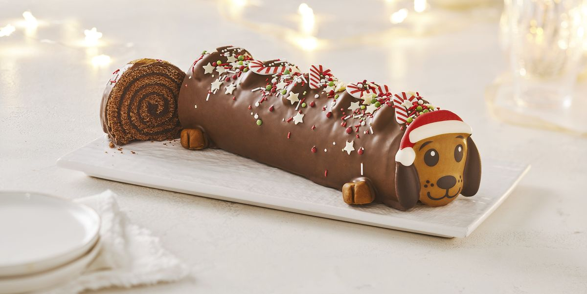 Sainsbury's Sausage Dog Yule Log Is Almost Too Cute To Eat