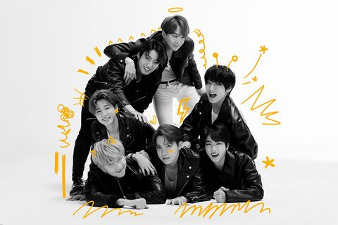 Yellow, Font, Graphic design, Black hair, Illustration, Graphics, Team, Album cover, Style, Art,