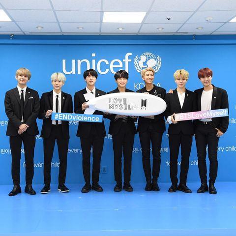 bts防彈少年團與聯合國兒童基金會再簽約!「love myself」計畫募得8億、成員現身紀念影片謝粉絲