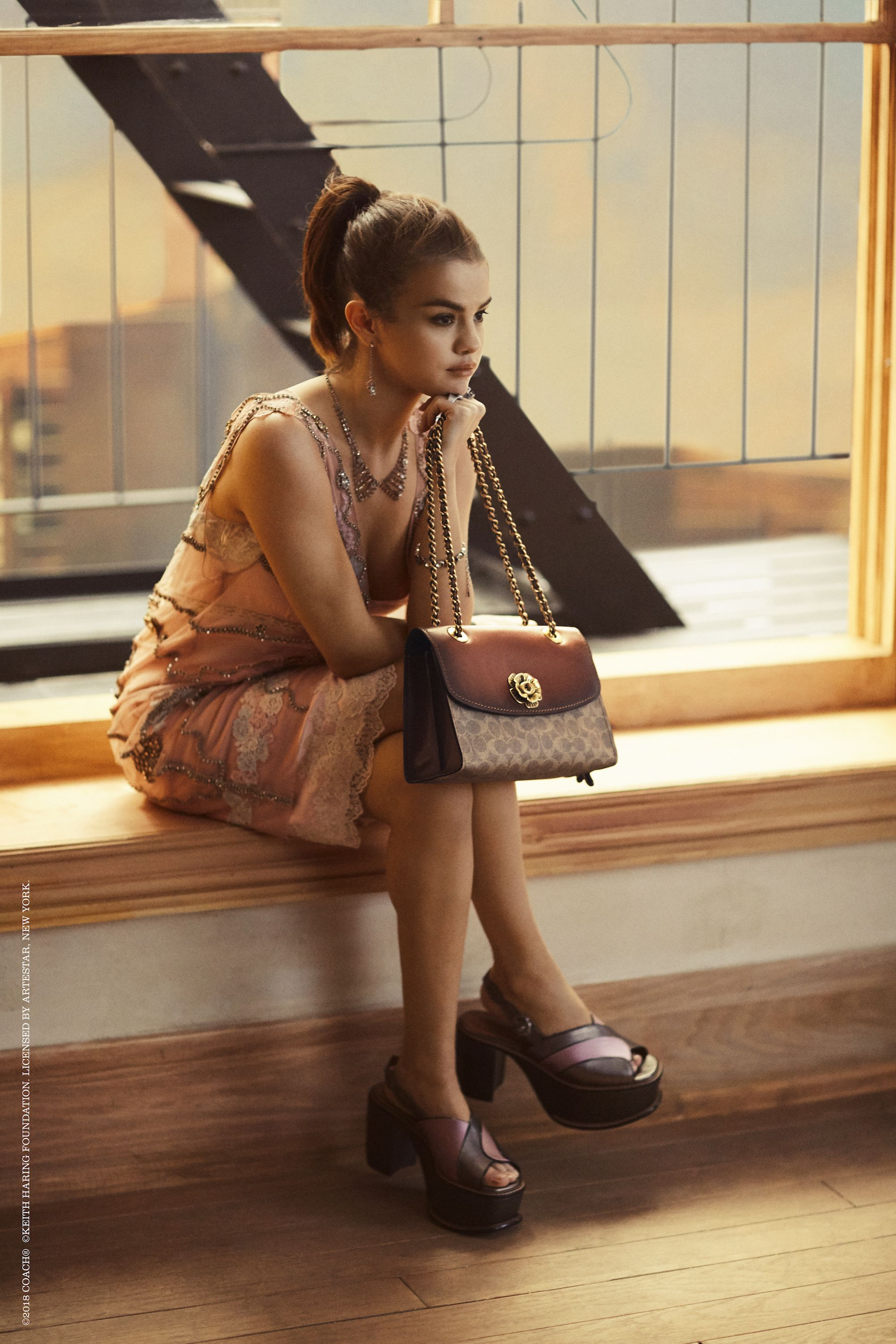 0d3773e5 Selena Gomez Goes Out on a Ledge in her Latest Coach Campaign