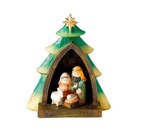 Figurine, Nativity scene, Christmas decoration, Interior design, Statue, Garden gnome,