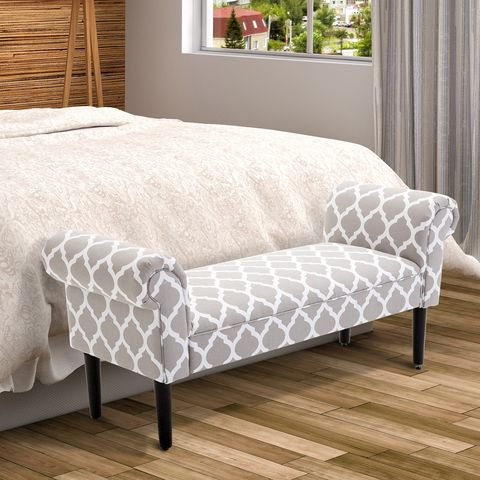 butaca tapizada para poner en los pies de la cama, es de manomano
