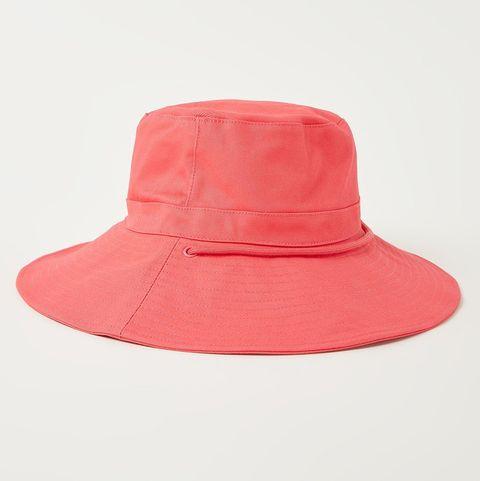 bucket hoed in perzik roze met koord van barts via de bijenkorf
