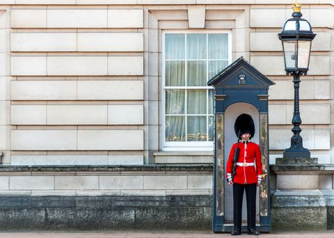 Queen's Guard At Buckingham Palace, London, England