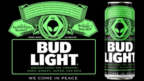 Bud Light Created Area 51-Inspired Cans For The Alien Raid