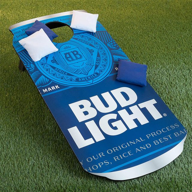 bud light beer cornhole lawn game set
