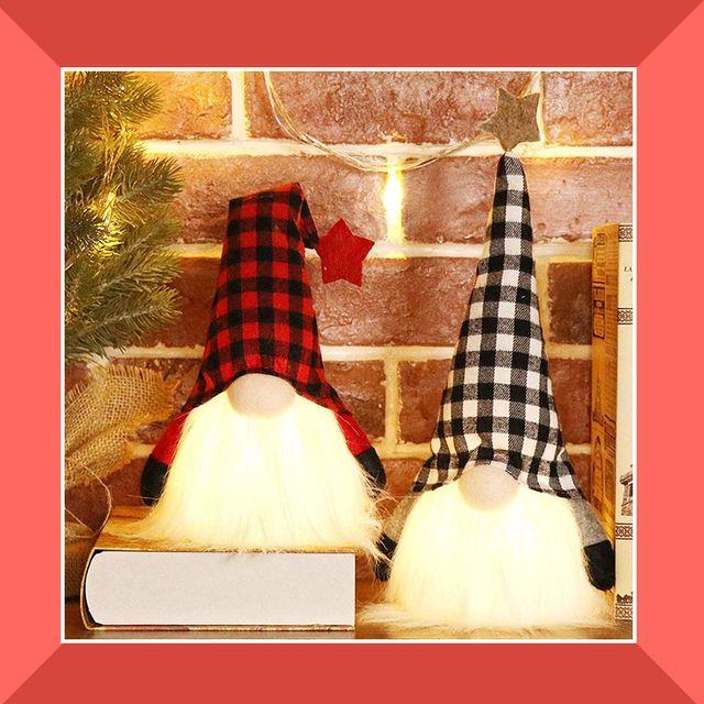buffalo check christmas skirt and gnomes