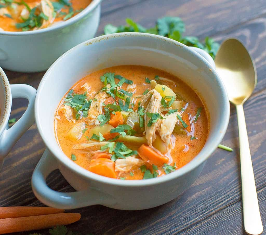 Instant Pot or Slow Cooker Buffalo Chicken Chowder