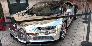 Bugatti Chiron pintura cromada