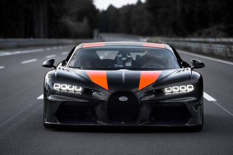 bugatti chiron top speed test