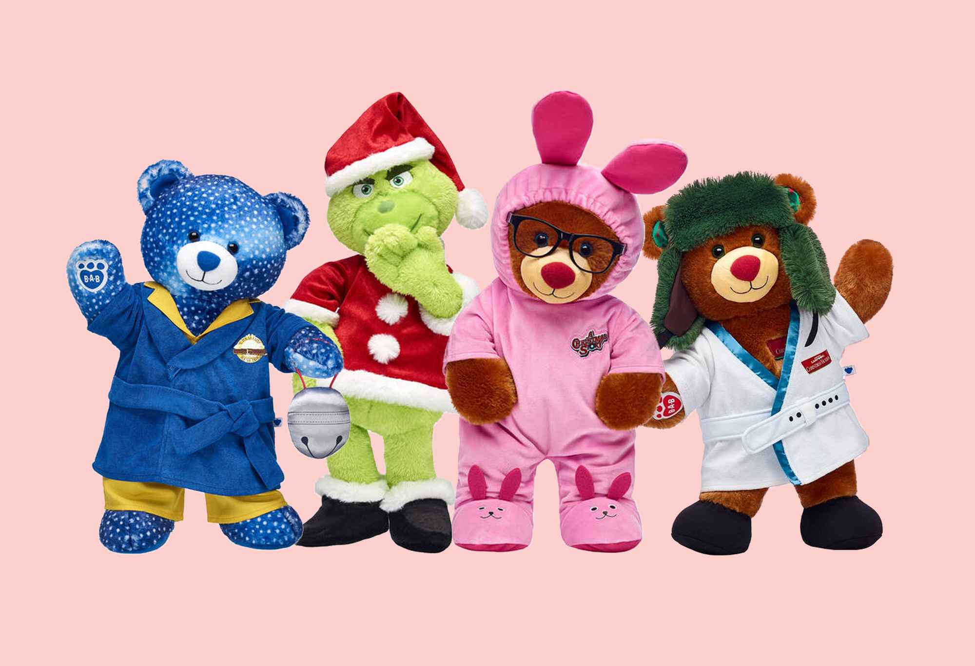 Build A Bear Christmas 2020 Build a Bear Christmas Movie Bears   Cousin Eddie, Ralphie, the