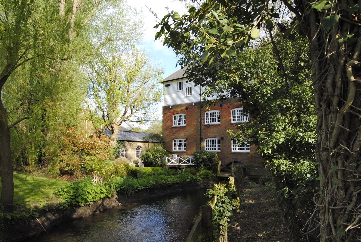 Converted watermill with enchanting woodlands for sale in Essex