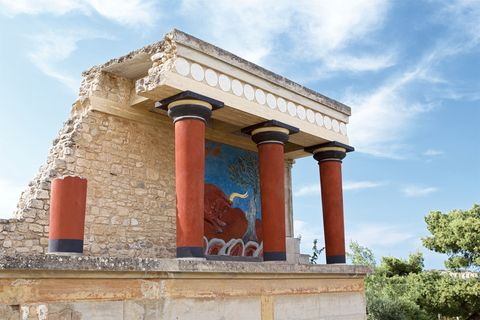 Bull Fresco in the North Entrance of Knossos Palace