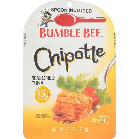 bumble bee seasoned tuna pouch with spoon