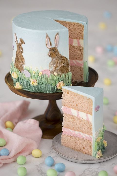bunny cake painted