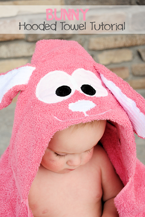 bunny crafts hooded towel