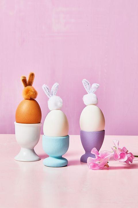 pompom bunny easter eggs