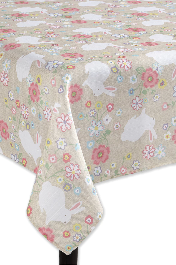 easter bunny print tablecloth