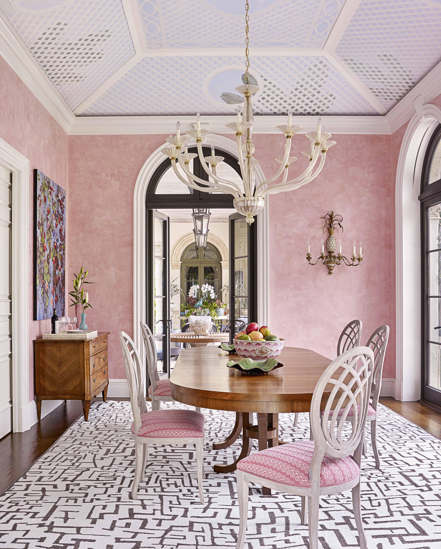 bunny williams pink dining room veranda