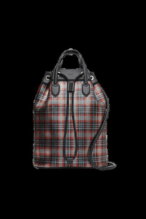 Bag, Tartan, Handbag, Pattern, Plaid, Design, Textile, Fashion accessory, Luggage and bags, Tote bag,