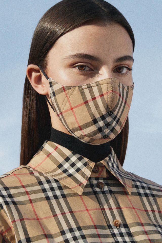 burberry, burberry face mask, burberry ppe, burberry mask, burberry vintage check