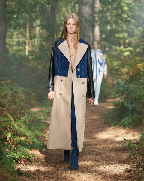 Brown, Sleeve, Collar, Textile, Outerwear, Coat, Street fashion, Blazer, Forest, Electric blue,
