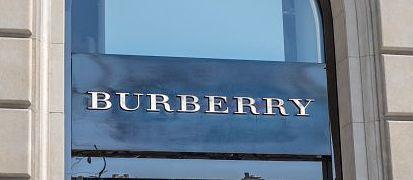 Burberry sign on Passeig de Gràcia street in Barcelona.