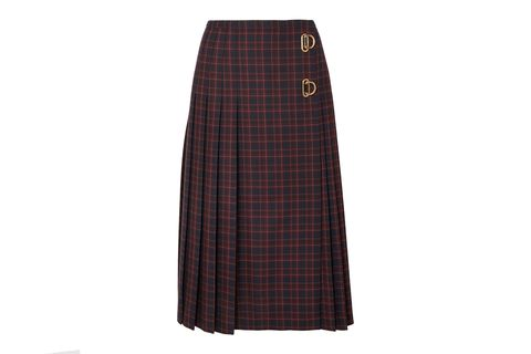 Clothing, Plaid, Brown, Tartan, Pattern, Design, Textile, A-line, Pencil skirt,