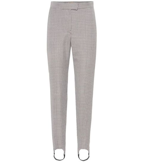 burberry checked stirrup pants