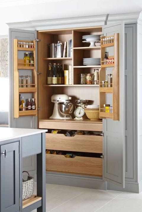 12 Pantry Ideas Larder Cupboard, Tall Kitchen Pantry Cabinet Furniture