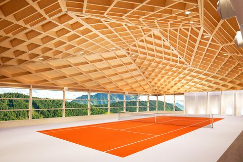 Sport venue, Ceiling, Architecture, Lighting, Building, Daylighting, Room, Real estate, Line, Design,